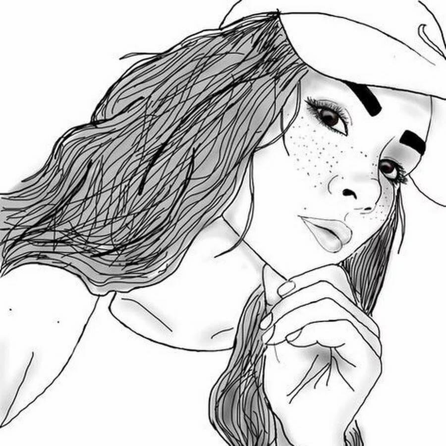 Надписями, рисунки девушки карандашом крутые