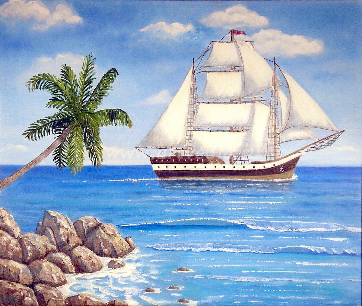 Картинки с изображением кораблей и моря
