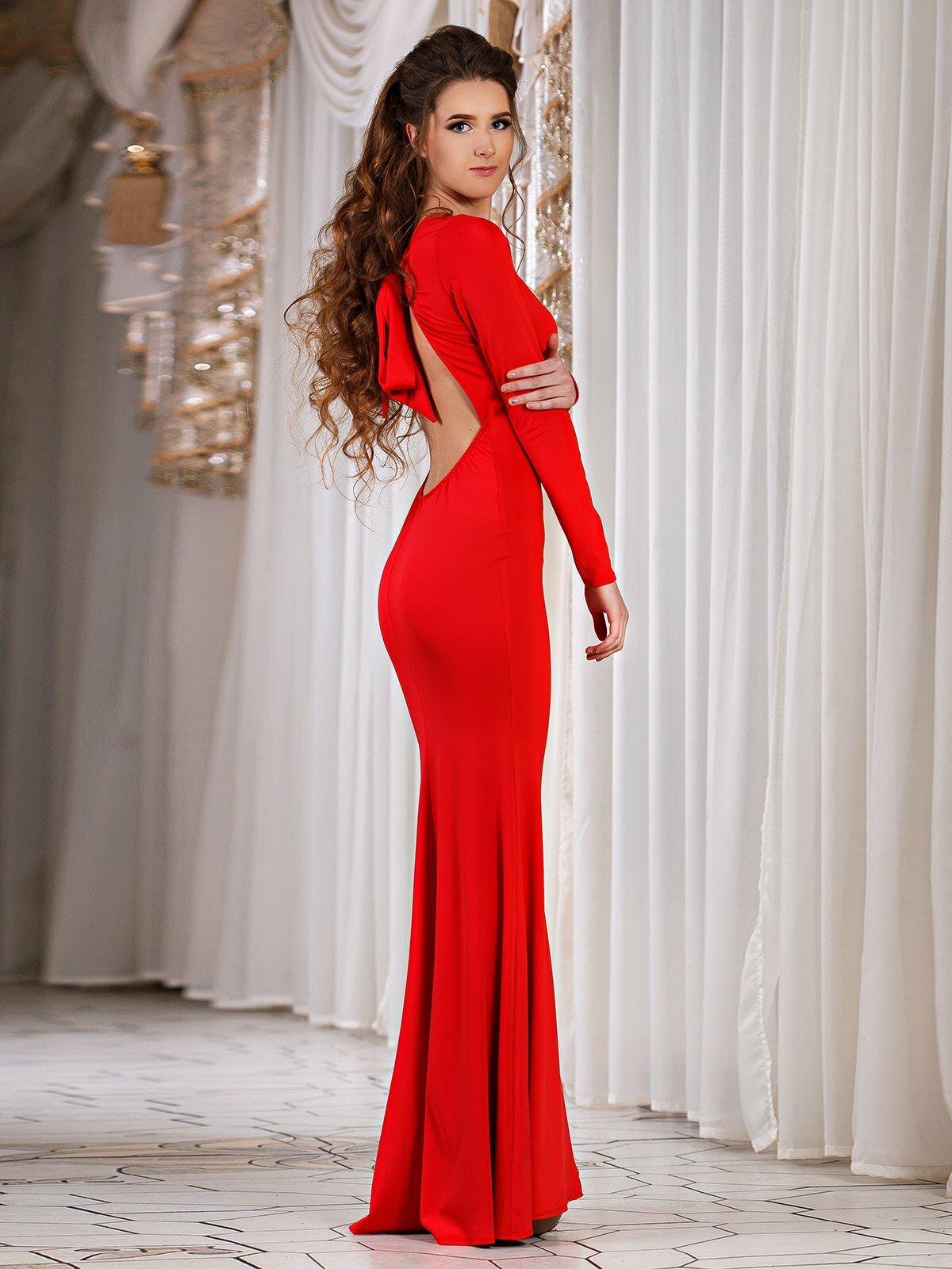 Картинки женщина в красном платье со спины, про детей надписью