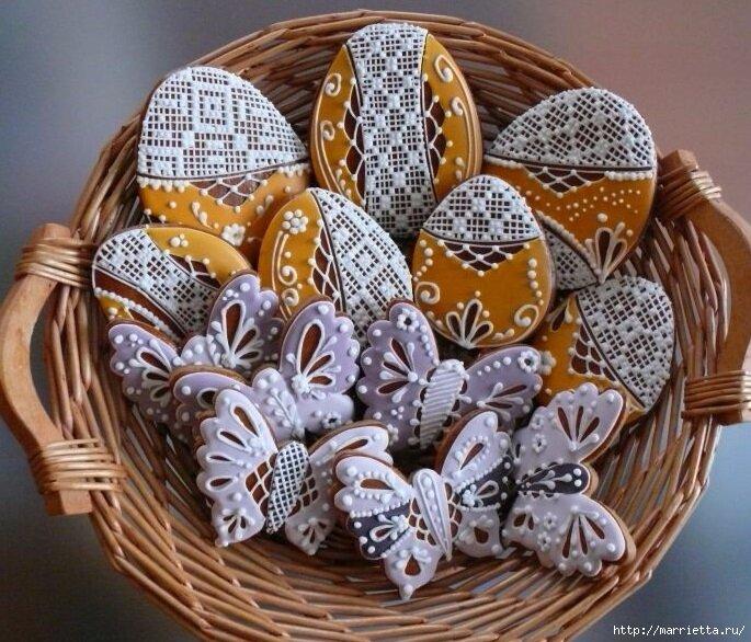 печенье к пасхе корзинки рецепт с фото течение