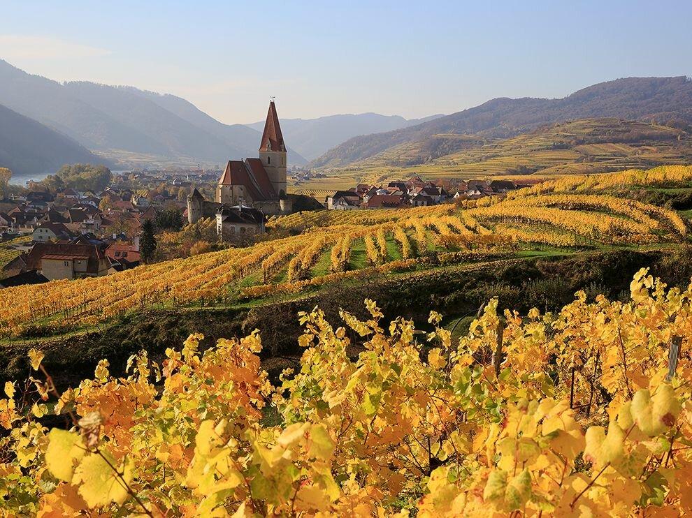 Осенние австрийские пейзажи характерны богатством цветовых оттенков