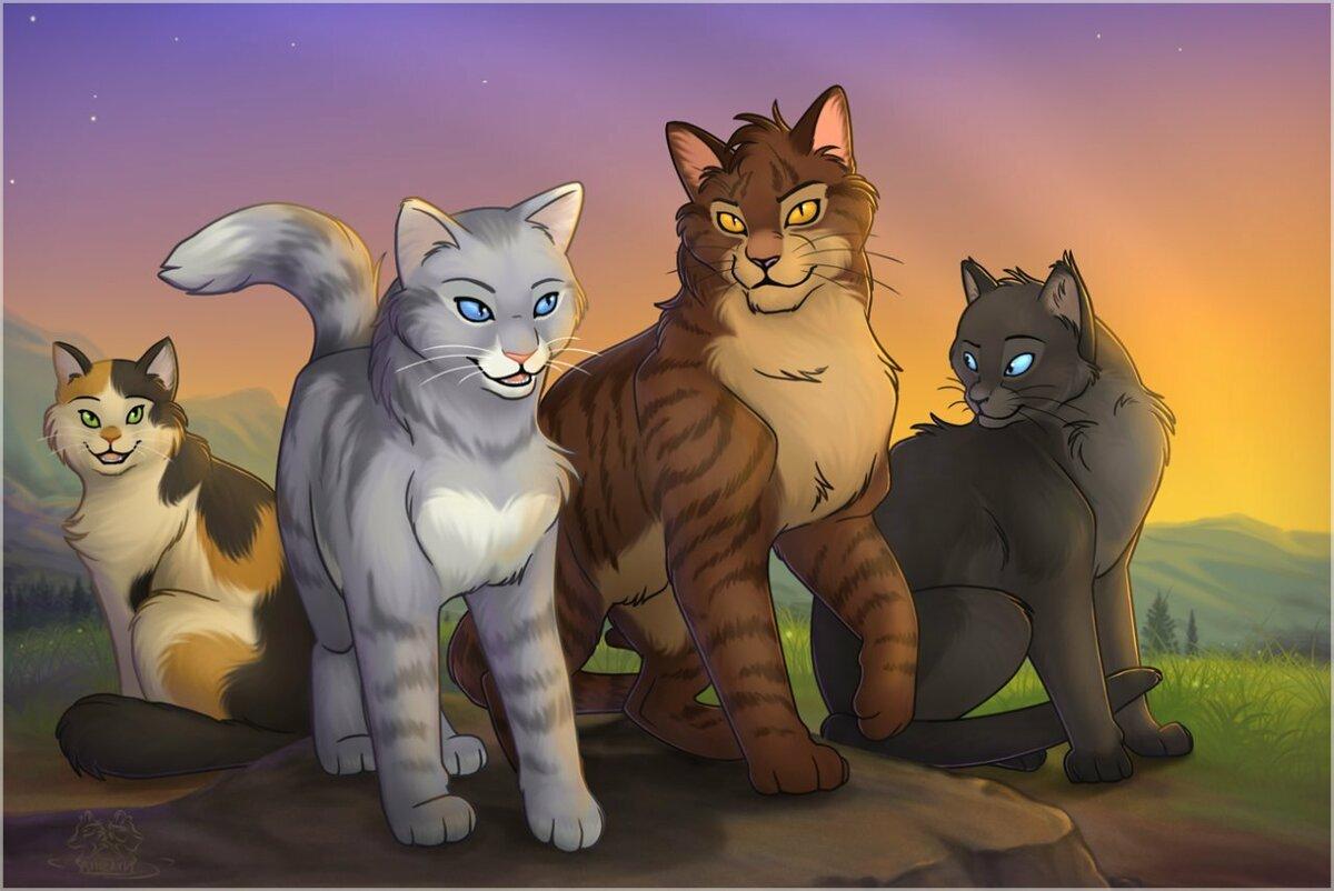 Коты воители в картинках, хенд мейд