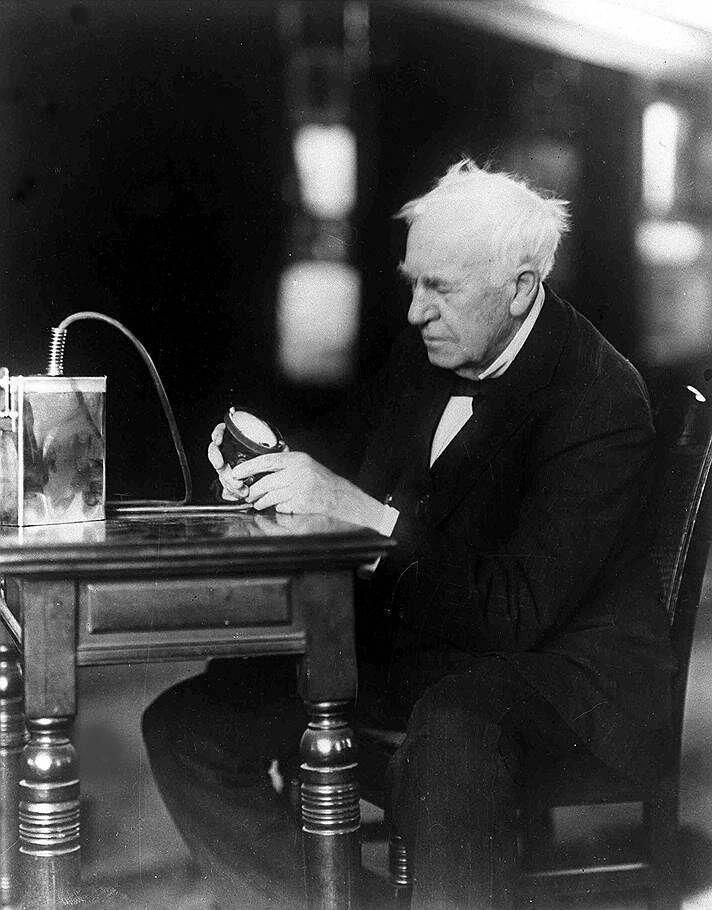 земле томас эдисон изобретения фото блокнот ручкой