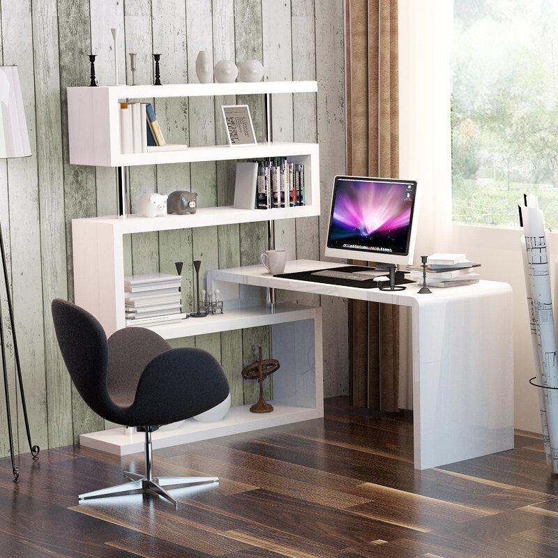 Угловой компьютерный стол фото современный в комнате