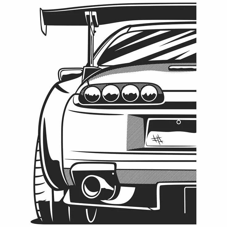 Картинки наклейки для срисовки карандашом на авто