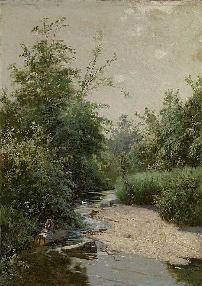 картина ручей в лесу шильдера второго ряда красиво