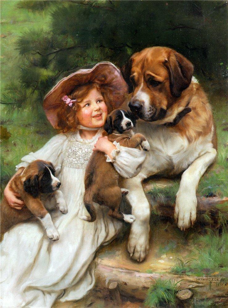 Открытки онлайн с собаками, про волков открытка