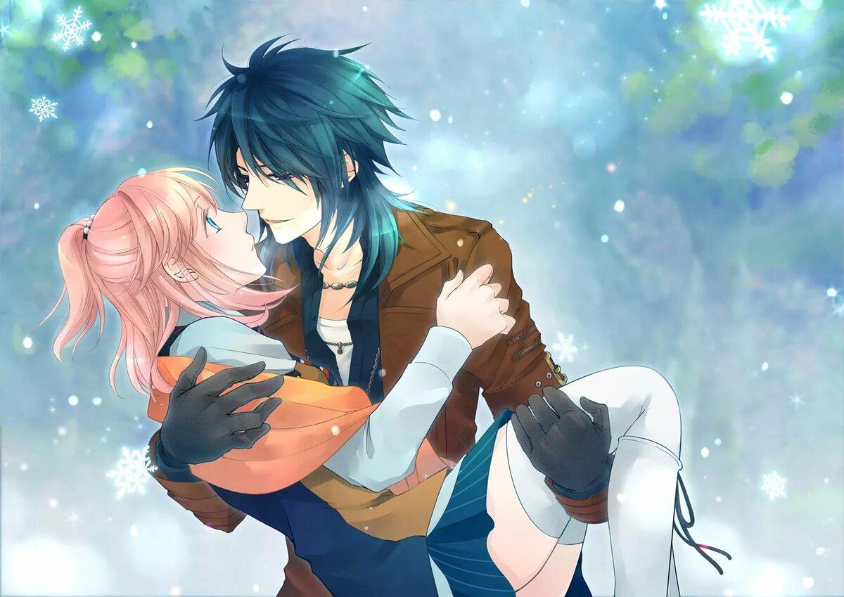 Романтика аниме в картинках