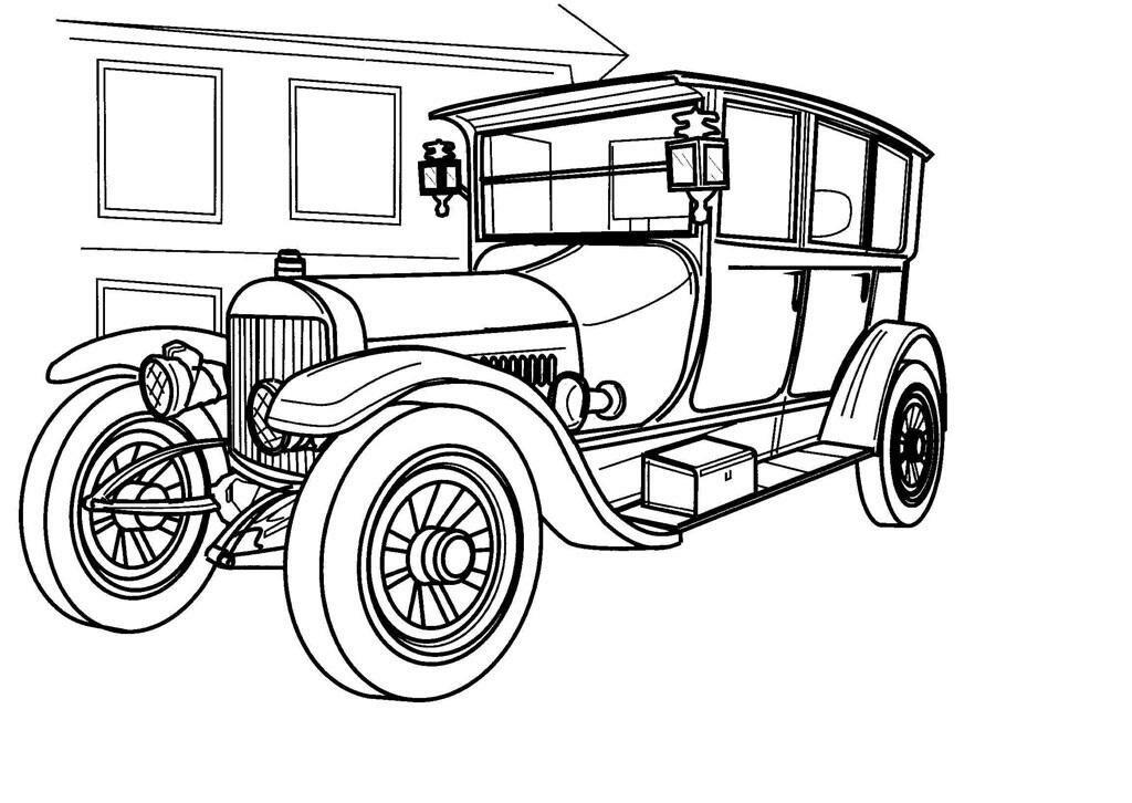 Ретро автомобили картинки для распечатки, картинка