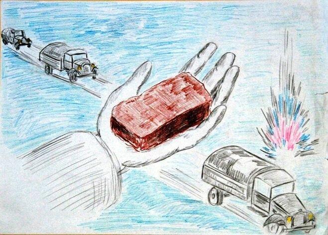 Открытки блокада ленинграда рисовать, для