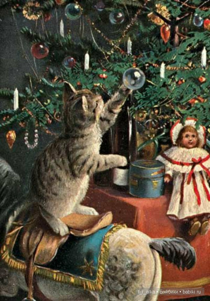 Создания, старинные фото открытки с рождеством