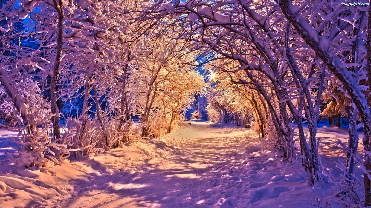 Картинки новогодние пейзажи красивые на рабочий стол