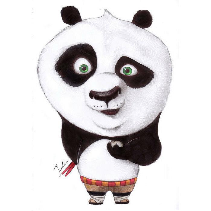 Смешная панда рисунок