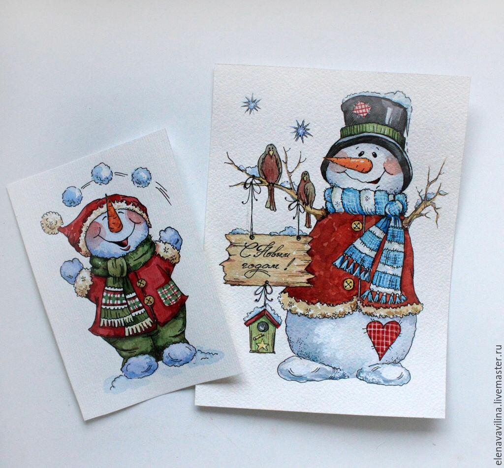 Мар, рисовать новогодние открытки своими руками