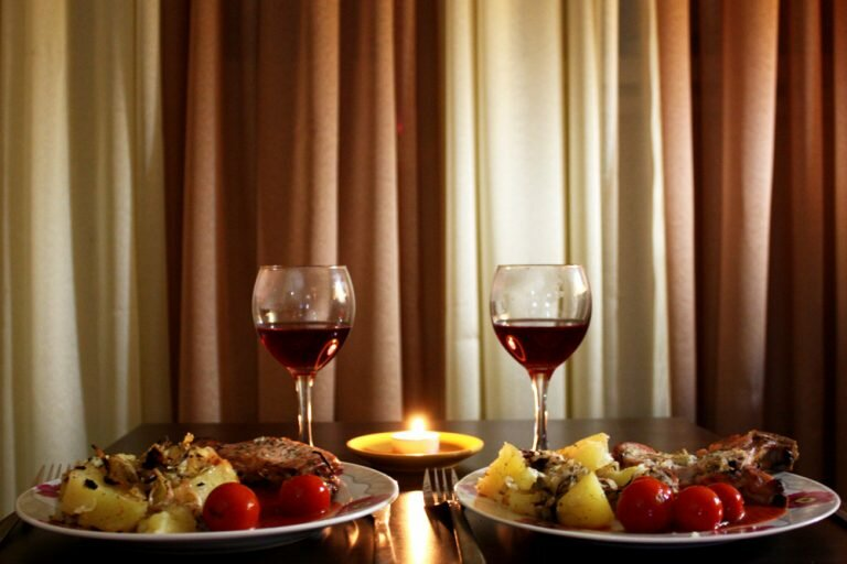 Картинки ужина при свечах