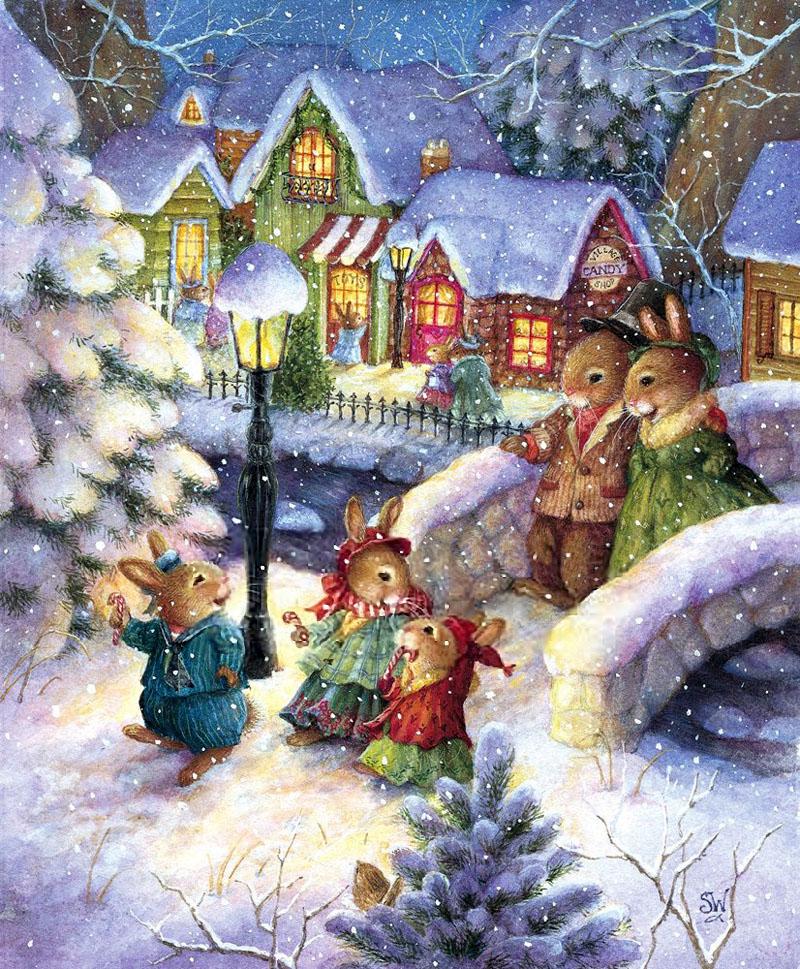 Рождество, рождественские открытки рисунок