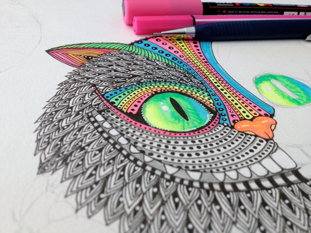 Прикольные рисунки цветными ручками, бумажный кораблик гифка