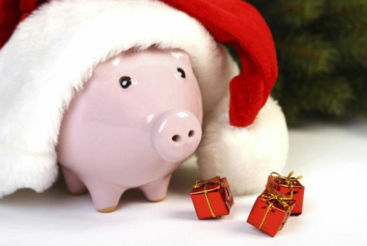 Картинки с свиньями новогодние, открытка поздравлениями днем
