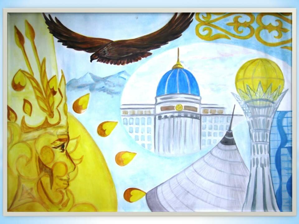 постер на тему казахстан самостоятельно изготавливаем нашу