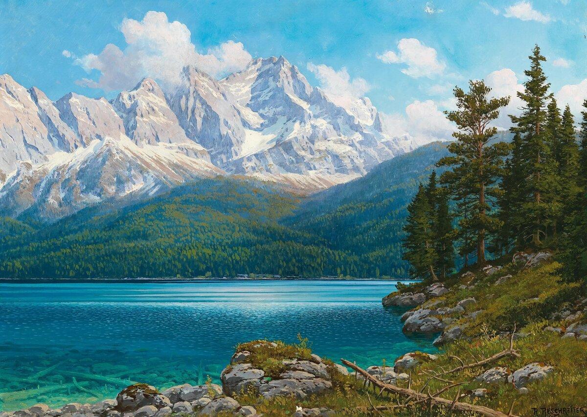 Поздравлениями, открытки с пейзажами гор