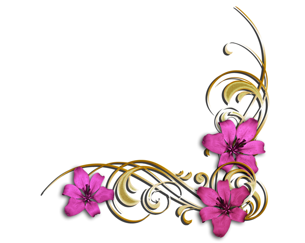 День рождения, уголок открытки с цветами