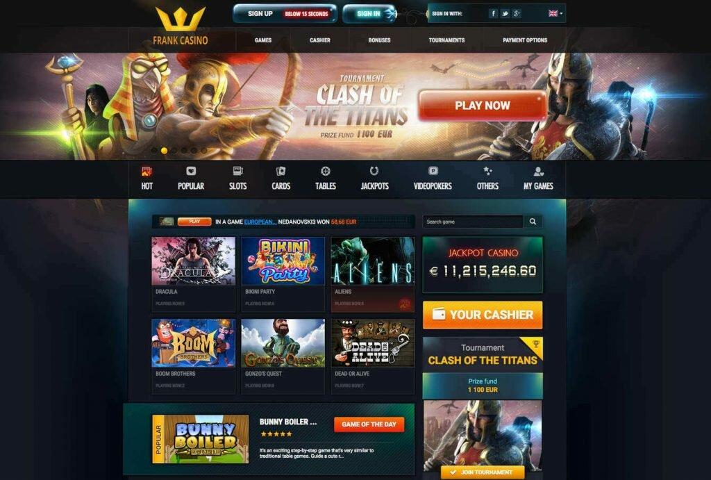 официальный сайт онлайн казино франк отзывы