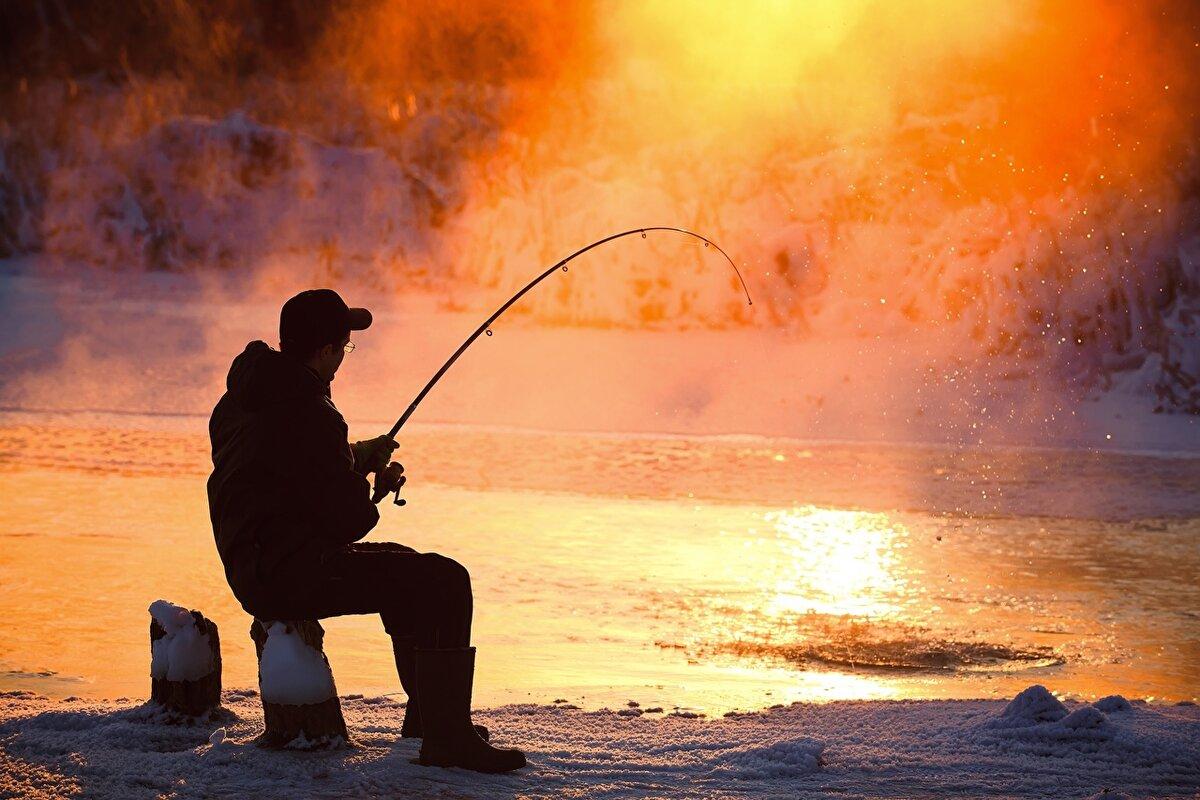 Надписью выдыхай, картинка с рыбалки