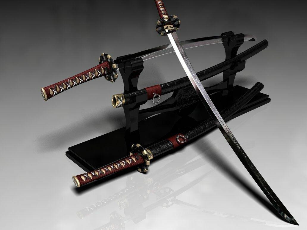 картинки мечей и самурайских катан дома