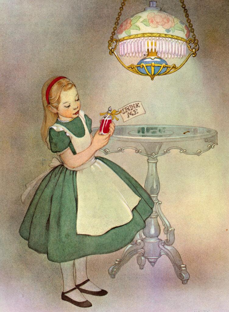 Алиса в стране чудес в картинках сказка