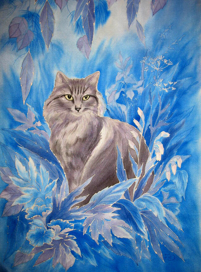 Картинки, картинки батиком животные