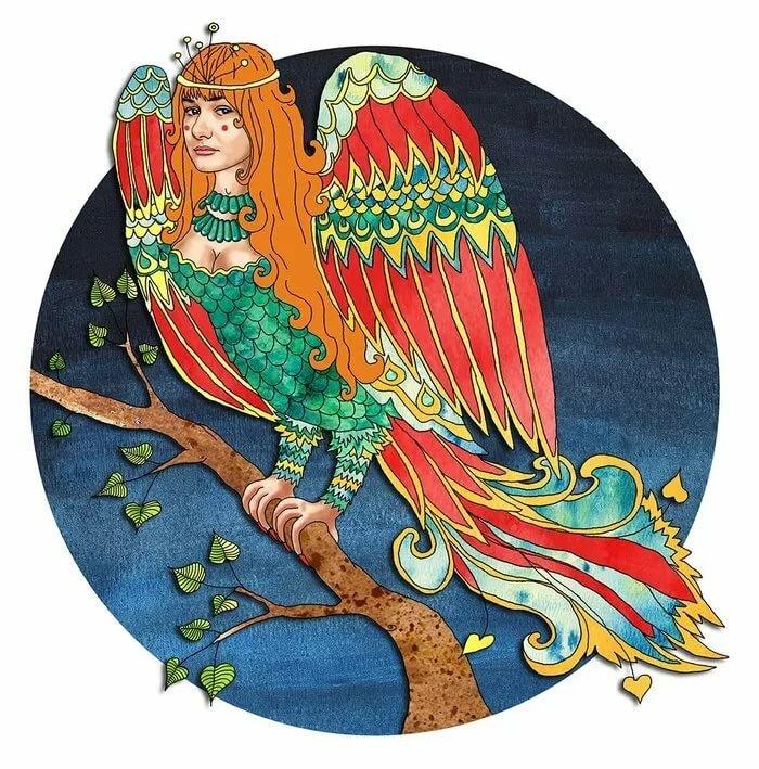 птица в славянской мифологии сирин картинка вот