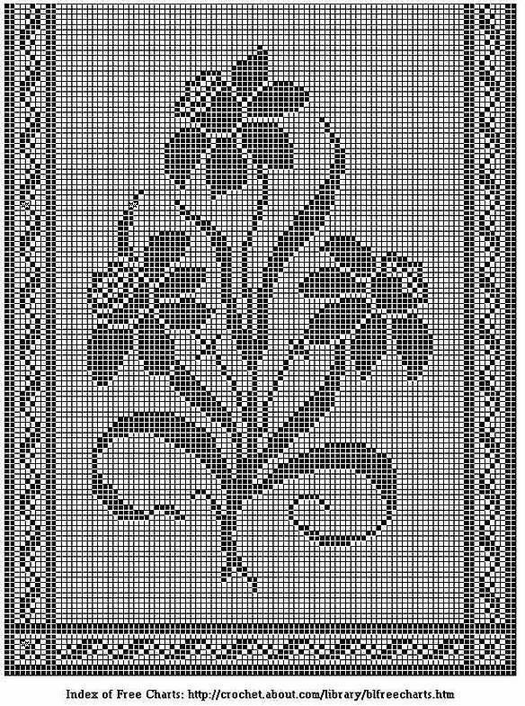картинки филейным вязание крючком