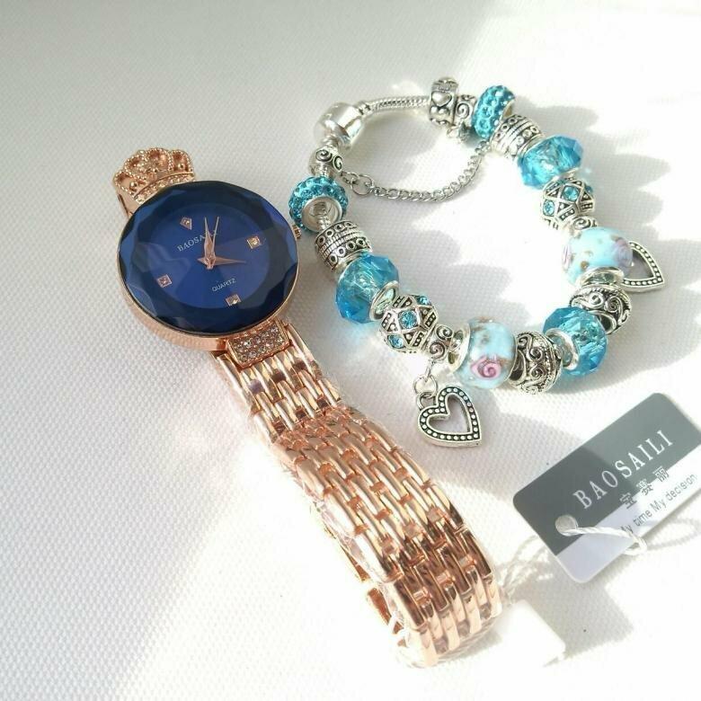 Часы Baosaili и браслет Pandora в подарок в Ангарске