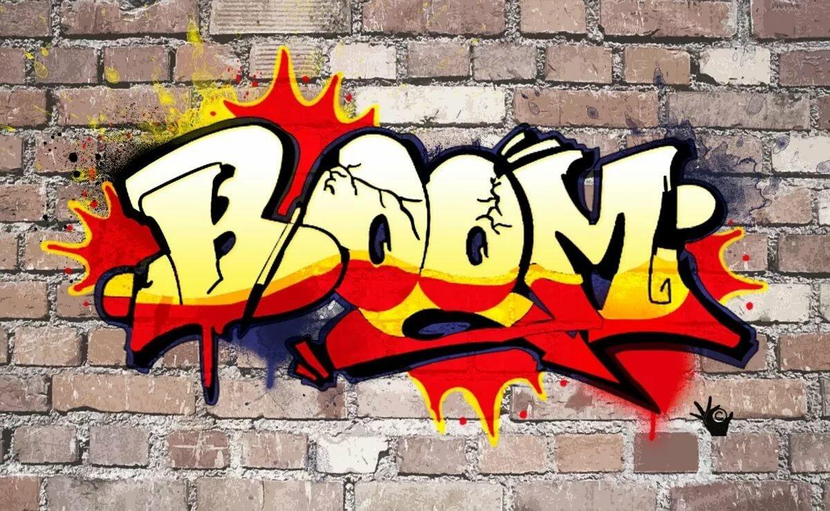 Картинки в виде граффити, открытка новый