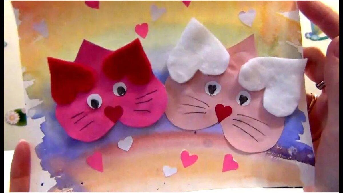 открытки и поделки с кошками