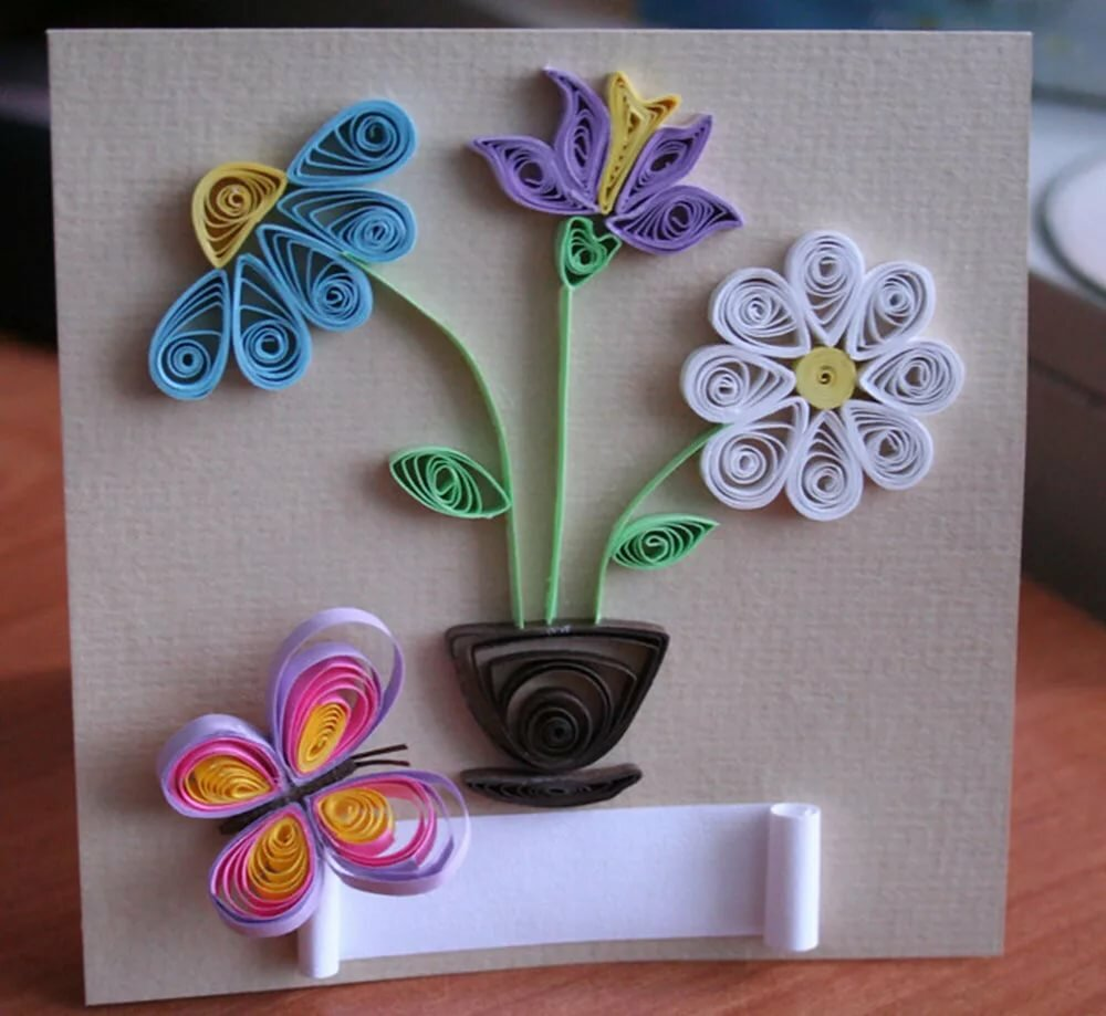 Цветы открытка своими руками презентация