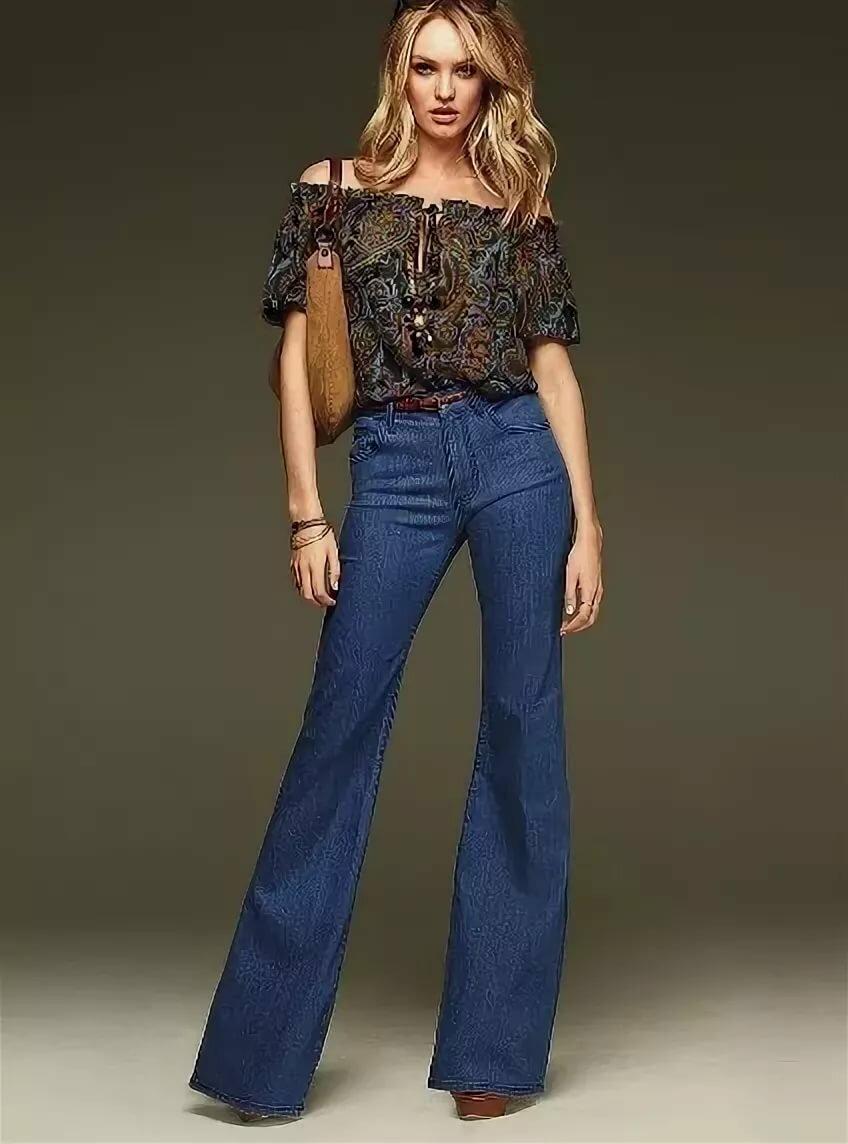 своем джинсы клеш фото женские ходила голой