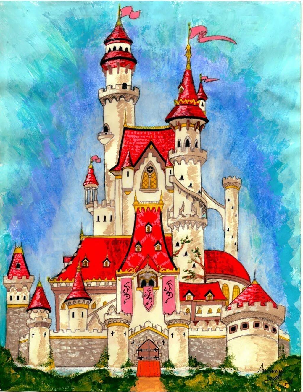 Детская картинка замка