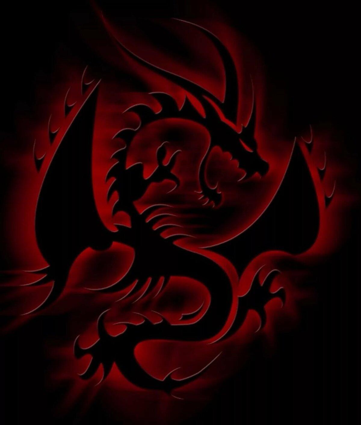 нем картинка красного дракона на черном фоне нужно лишь выбрать