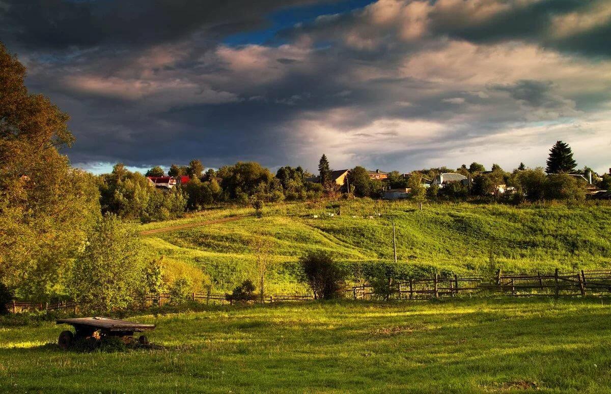 Красивые картинки с деревенской природой и домами