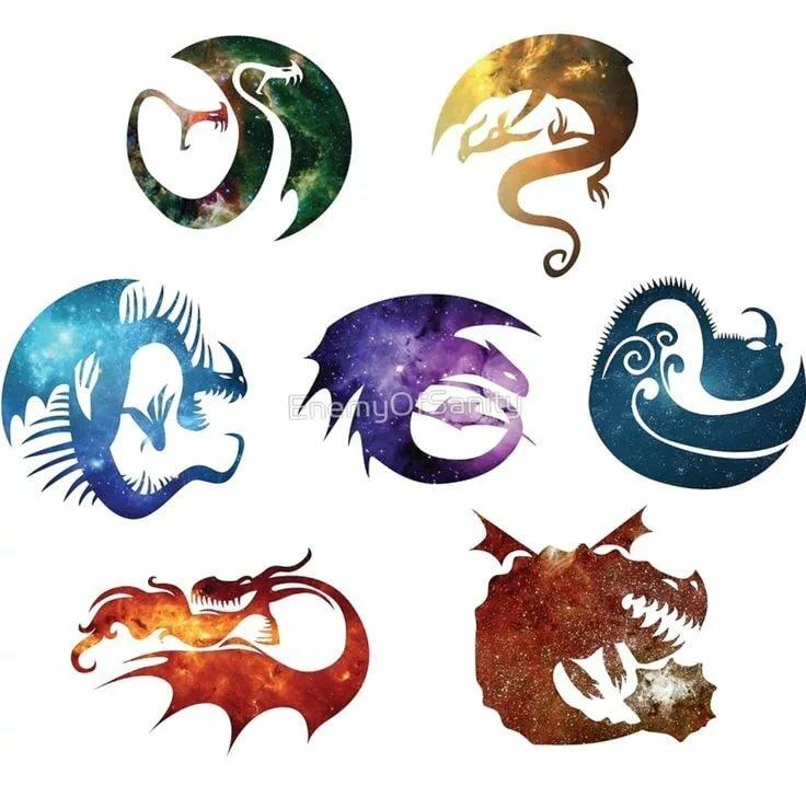 картинки всех драконов из как приручить дракона с названиями терпят, чтобы