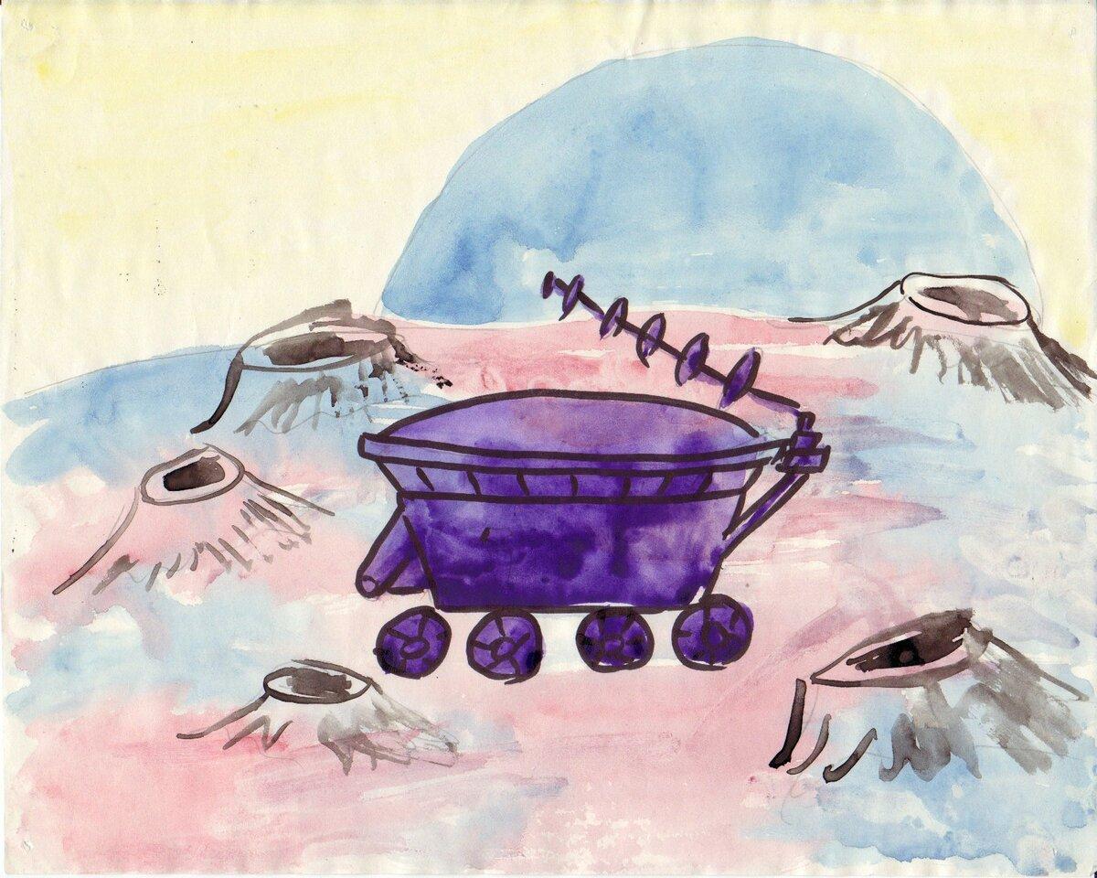 Луноход рисунки детей