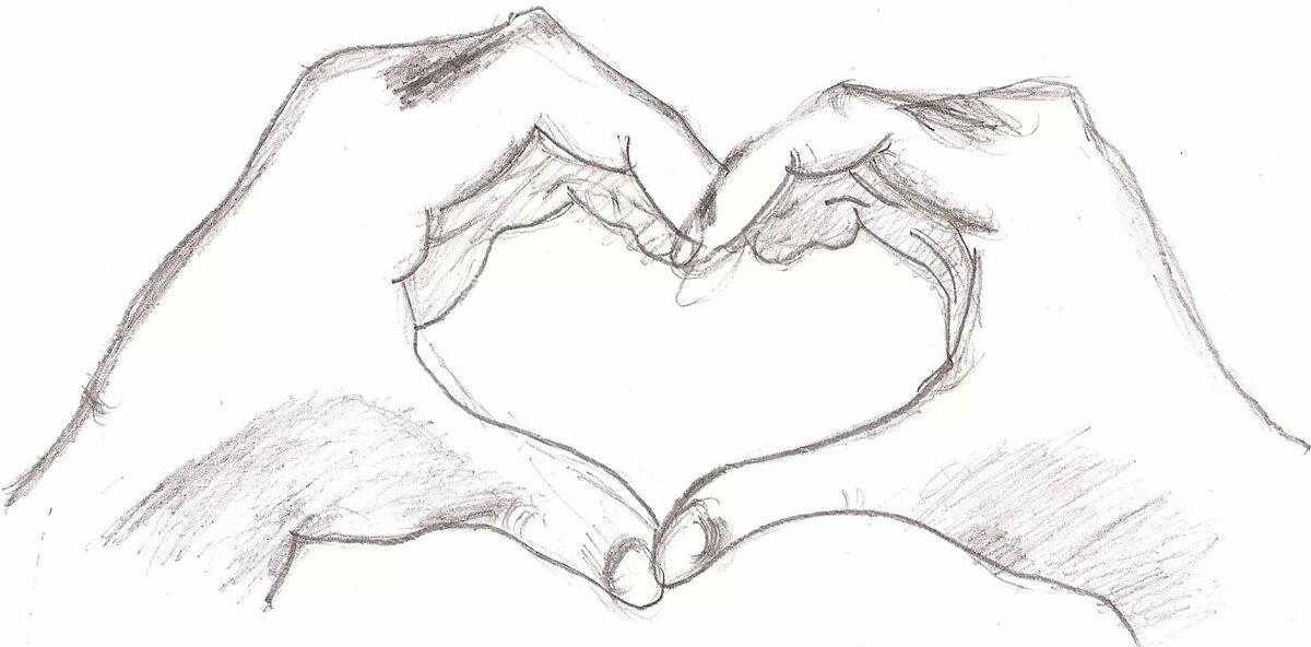 Картинки два сердца вместе красивые карандашом