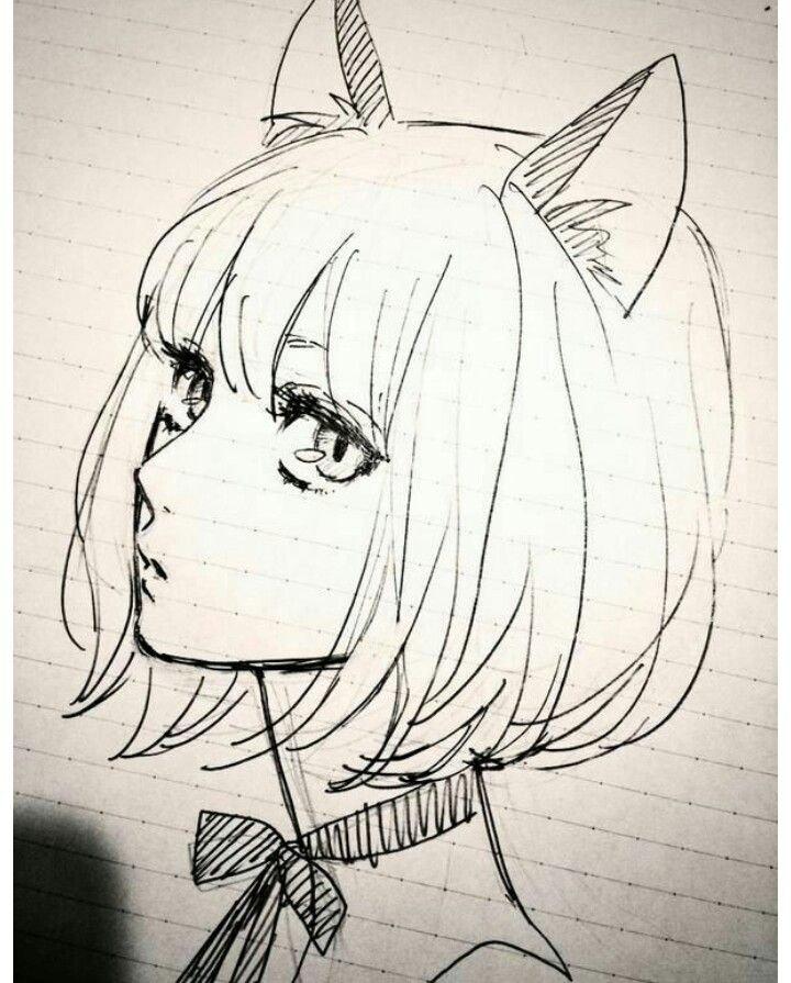 Срисовка прикольных картинок аниме