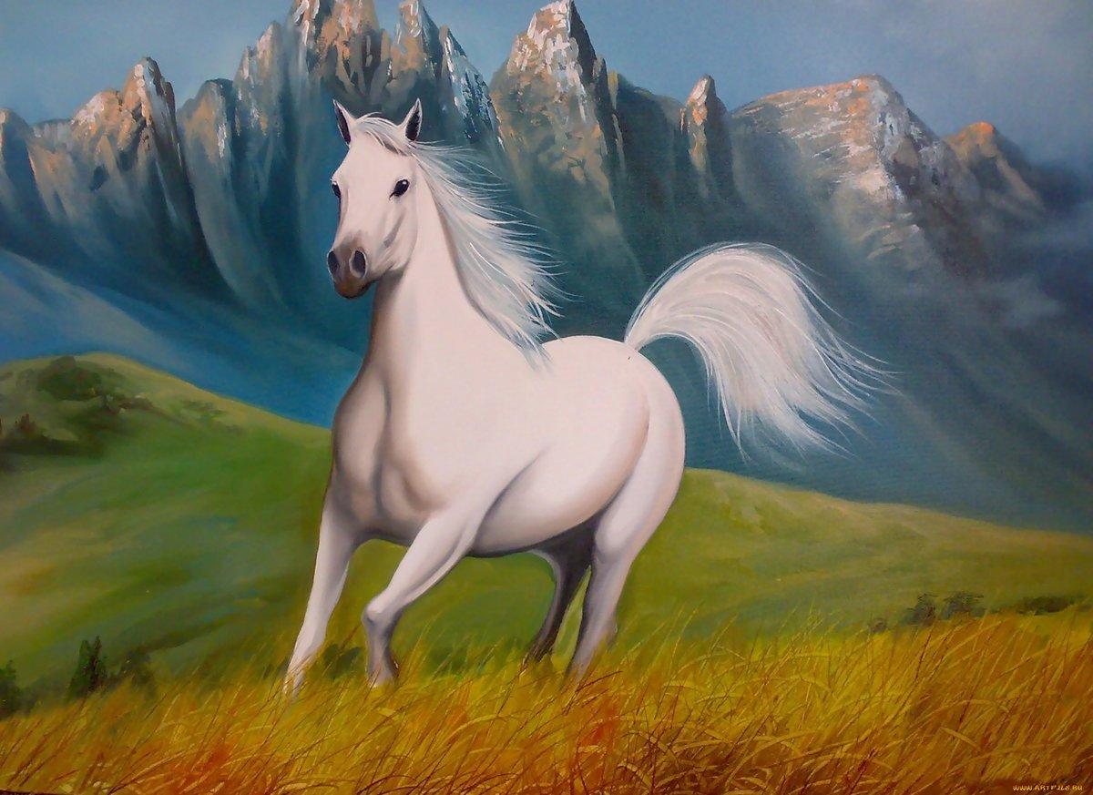 рисунки с лошадьми красивые ногтей