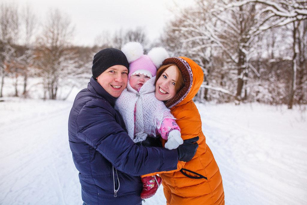 используется идеи для фотосессии семьей зимой приспособление