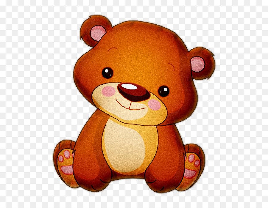 Открытка днем, медвежата картинка на прозрачном фоне