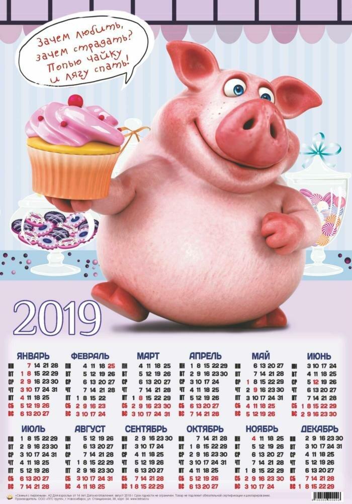 Смешные картинки на календарь 2019, день рождения