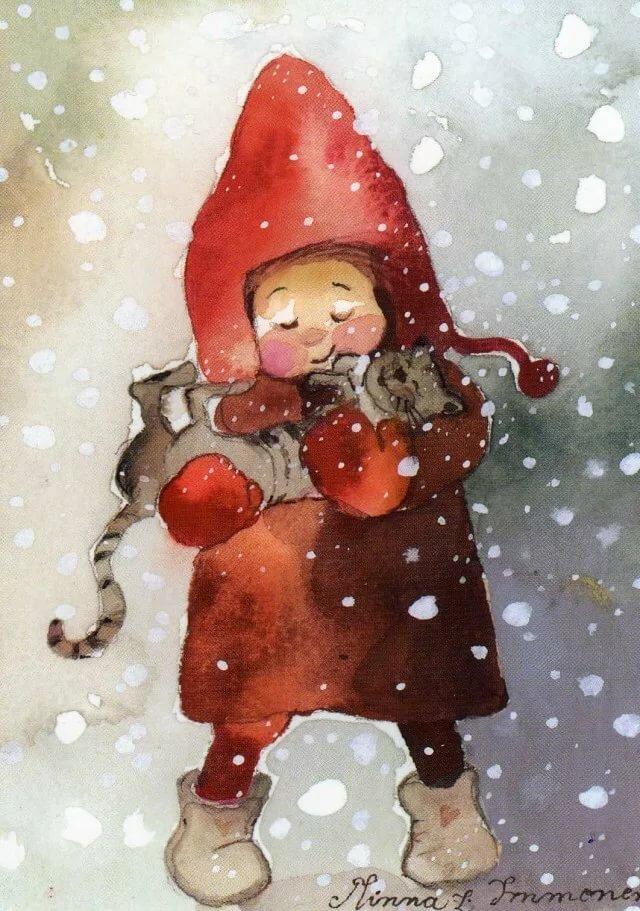 Прикольные картинки девочка зима