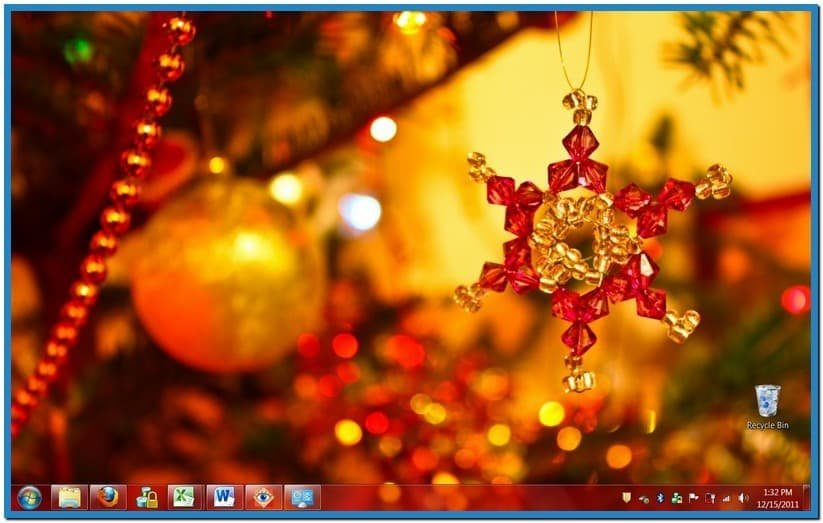 Windows 7 christmas lights screensaver